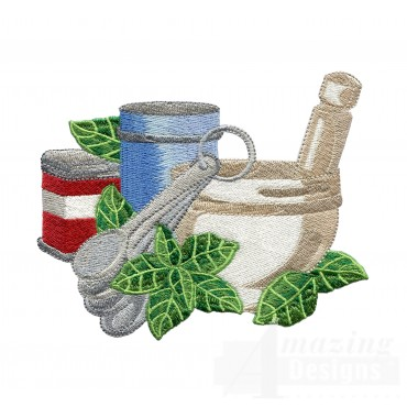 Basil Herb Collection Embroidery Design
