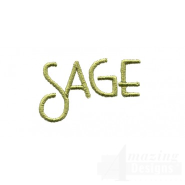 Sage Word Embroidery Design