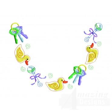 Baby Toy Neckline Embroidery Design