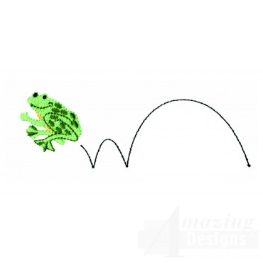 Hopping Frog Embroidery Design