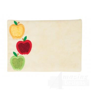 Apples Applique Mug Rug Embroidery Design