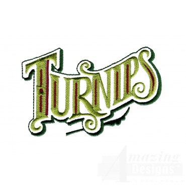 Turnips Lettering Embroidery Design