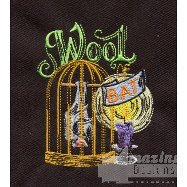 Wool Of Bat Embroidery Design