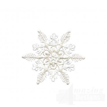 Crewel Snowflake 8 Embroidery Design