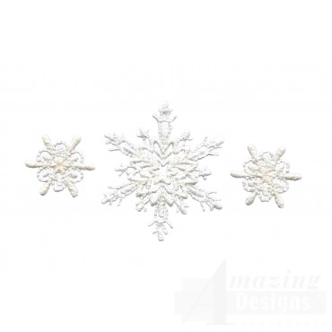 Crewel Snowflake Group 2 Embroidery Design