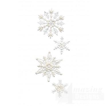 Crewel Snowflake Group 5 Embroidery Design
