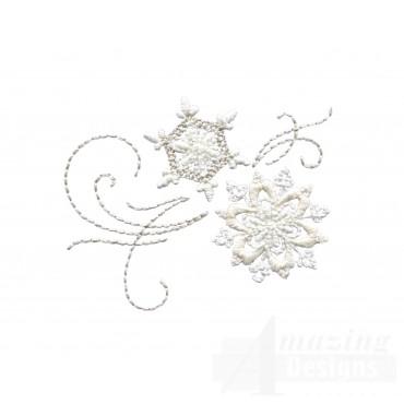 Crewel Snowflake Group 6 Embroidery Design