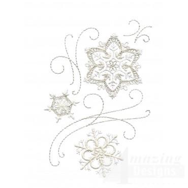 Crewel Snowflake Group 7 Embroidery Design