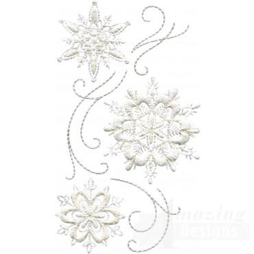 Crewel Snowflake Group 9 Embroidery Design