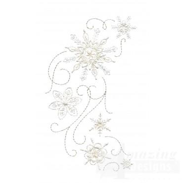 Crewel Snowflake Group 11 Embroidery Design