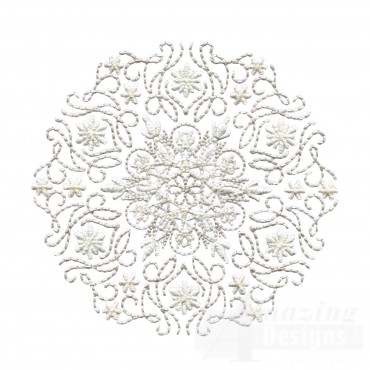 Large Crewel Snowflake Embroidery Design