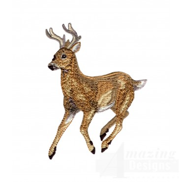Jumping Buck North Woods Autumn Embroidery Design