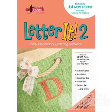 Letter It 2 Embroidery Software