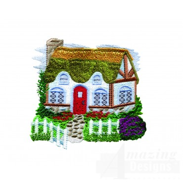 Charming Cottages Swnct102 Embroidery Design