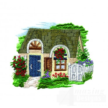 Charming Cottages Swnct106 Embroidery Design