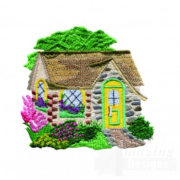 Charming Cottages Swnct112 Embroidery Design