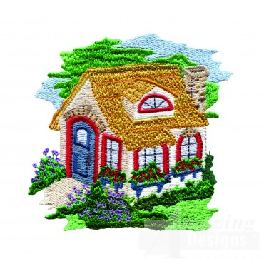 Charming Cottages Swnct115 Embroidery Design