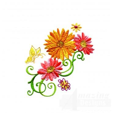 Delightful Daisy Swndsy120 Embroidery Design