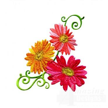 Delightful Daisy Swndsy122 Embroidery Design2