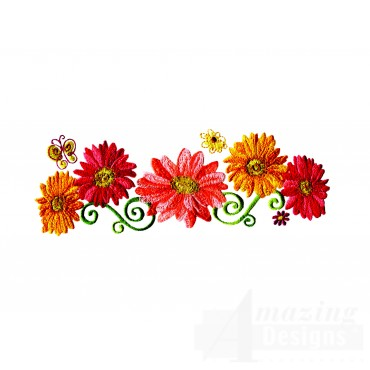 Delightful Daisy Swndsy123 Embroidery Design