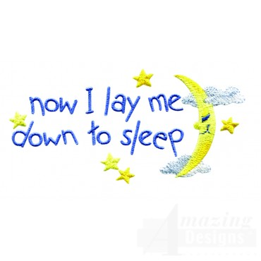 Swnbear124 Now I Lay Me Down Embroidery Design