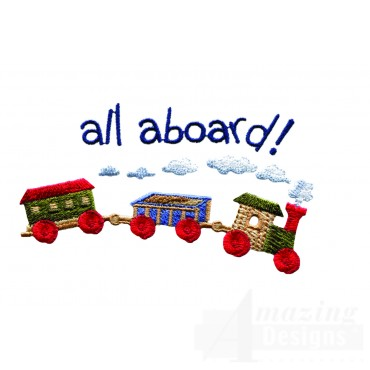 Swnbear130 Toy Train Embroidery Design