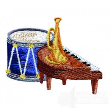 Swnbear142 Musical Instruments Embroidery Design