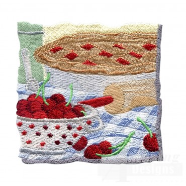 Cherry Pie Embroidery Design