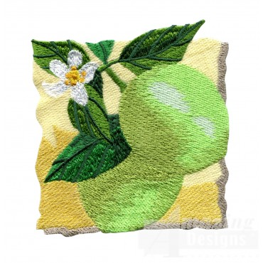 Limes On The Tree Embroidery Design