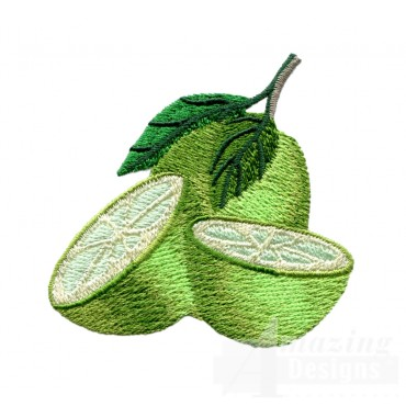 Sliced Limes Embroidery Design