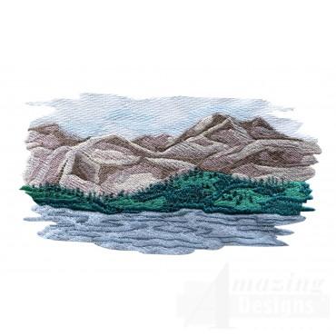 Mountain Scene 2 Embroidery Design