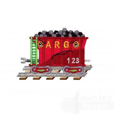 Coal Car Embroidery Design