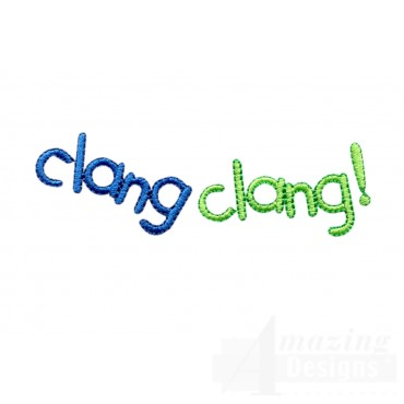 Clang Clang Words Embroidery Design