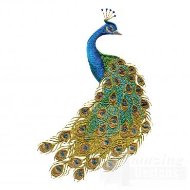 Swnpa135 Peacock Embroidery Design