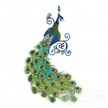 Swnpa142 Peacock Embroidery Design