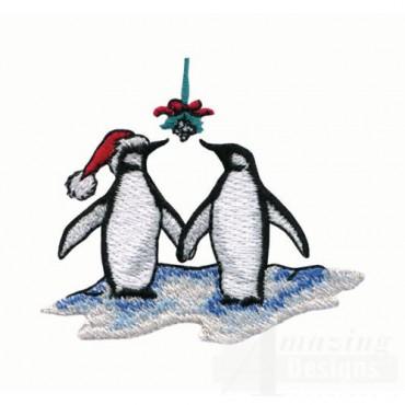 Penguins Under Mistletoe