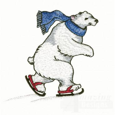 Polar Bear Ice Skating
