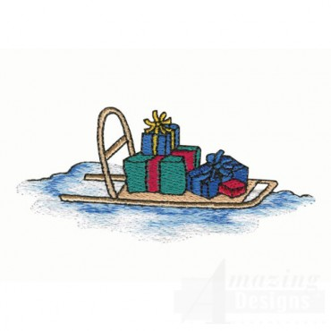 Arctic Sled with Presents