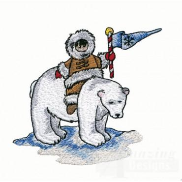Eskimo on Polar Bear
