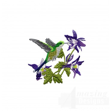 Swnhe145 Hummingbird Enchantment Embroidery Design