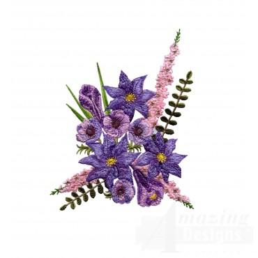 Swnfl217 Flourishing Flowers Embroidery Design