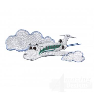Swncpc137 Passenger Plane Embroidery Design