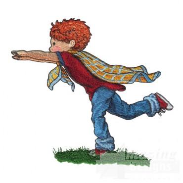Boy Playing Superman