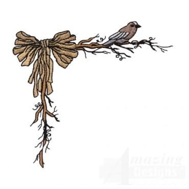 Raffia Bow and Bird