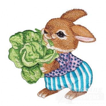 Bunny With Lettuce