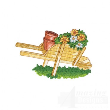 Wood Wheelbarrow