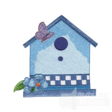 Birdhouse and Butterfly