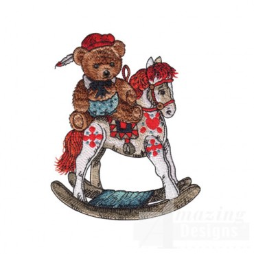 Bear on Rocking Horse