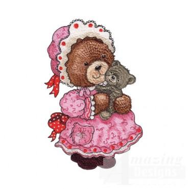 Girl Bear with Teddy