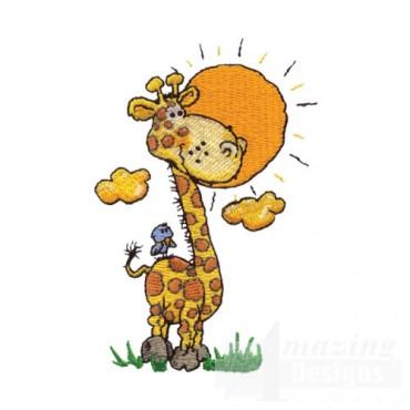 Giraffe with Bird Buddy